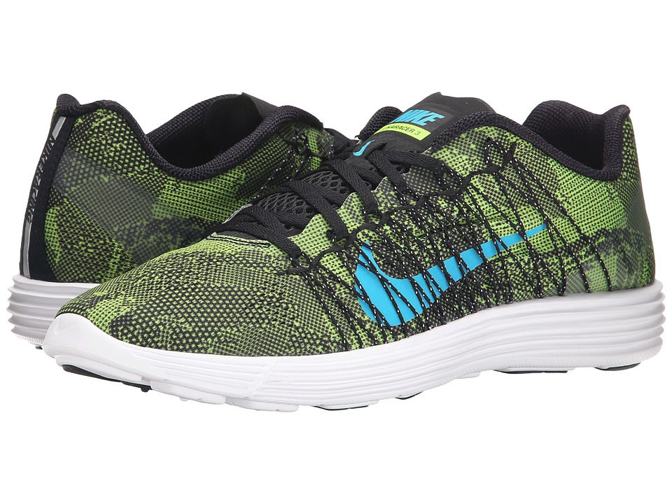 Nike - Lunaracer+ 3 (Ghost Green/White/Black/Blue Lagoon) Men