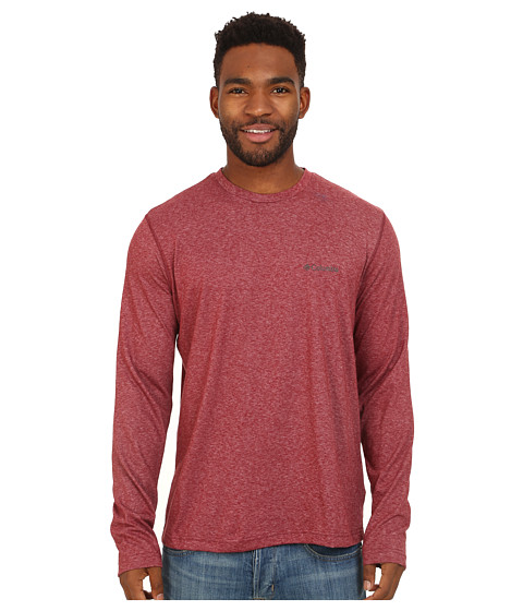 Columbia - Thistletown Park Long Sleeve Crew (Red Element Heather) Men