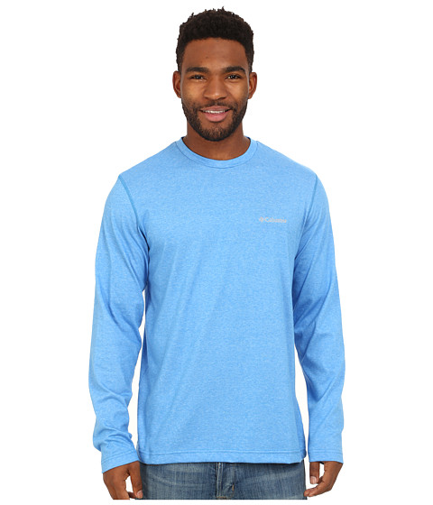 Columbia - Thistletown Park Long Sleeve Crew (Hyper Blue Heather) Men's Long Sleeve Pullover