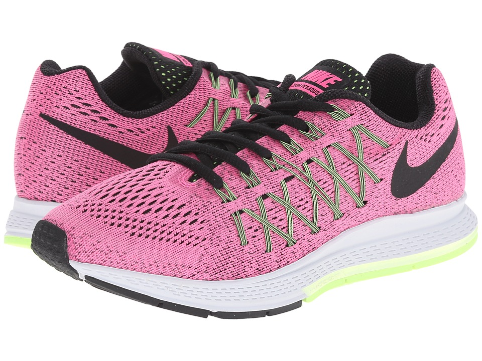 Nike - Air Zoom Pegasus 32 (Pink Pow/Barely Volt/Ghost Green/Black) Women's Running Shoes