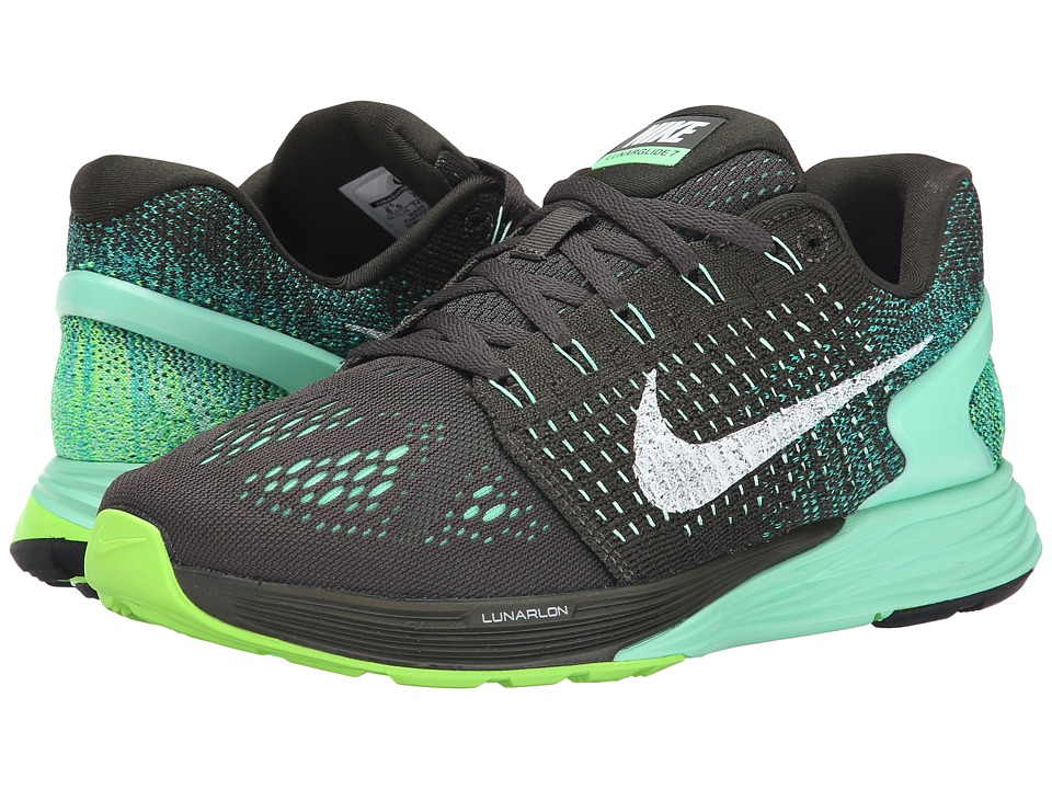 Nike - Lunarglide 7 (Sequoia/White/Green Glow) Women's Running Shoes
