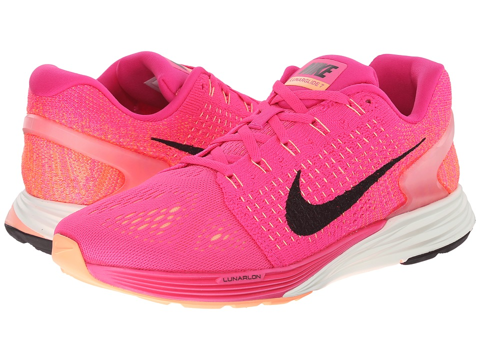 Nike - Lunarglide 7 (Pink Foil/Black/Pink Pow) Women's Running Shoes