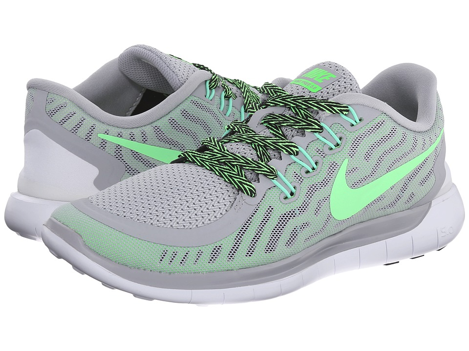 Nike - Free 5.0 (Wolf Grey/Green Strike/Ghost Green/Voltage Green) Women's Running Shoes
