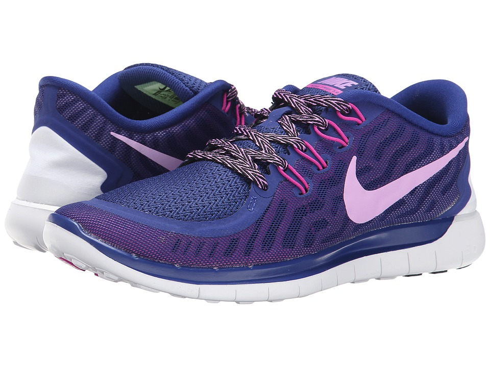 Nike - Free 5.0 (Deep Royal Blue/Fuchsia Flash/Club Pink/Fuchsia Glow) Women's Running Shoes