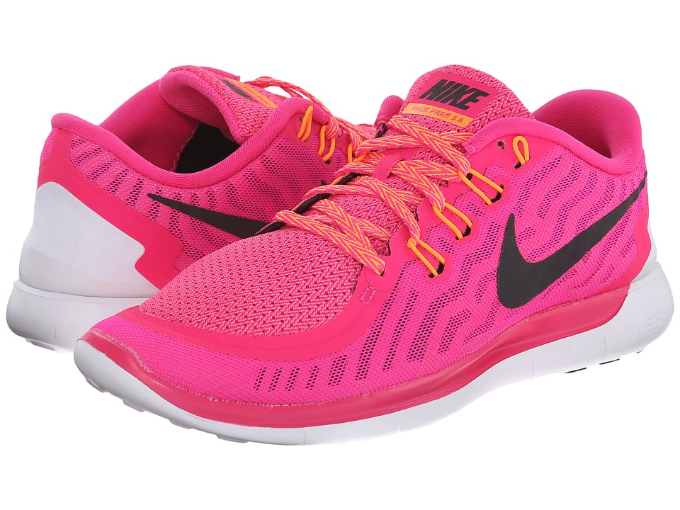 Nike - Free 5.0 (Pink Foil/Pink Pow/Bright Citrus/Black) Women's Running Shoes