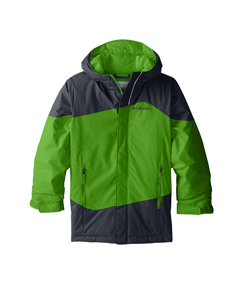 Columbia Kids - Snow Stoked Jacket (Little Kids/Big Kids) (Cyber Green/Graphite) Boy's Coat