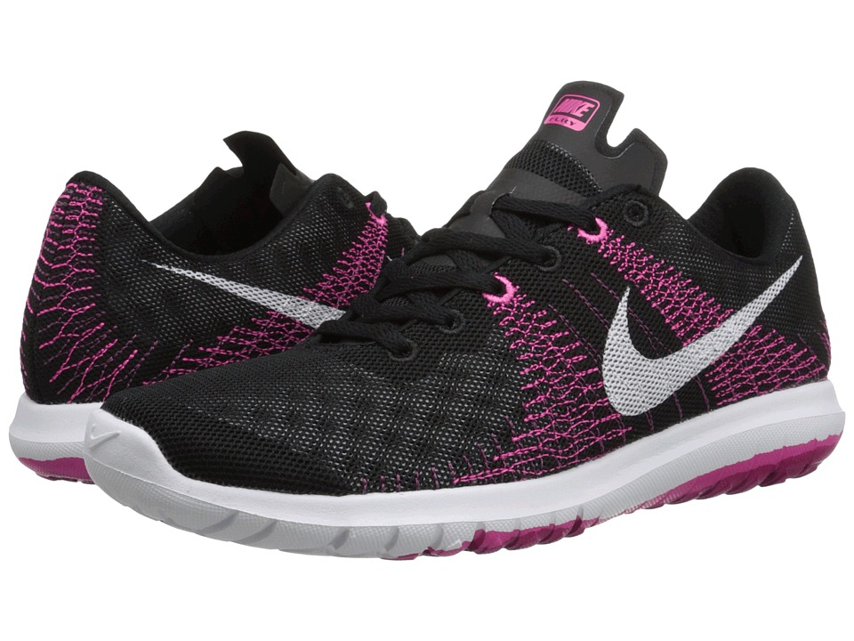 Nike - Flex Fury (Black/Pink Foil/Sport Fuchsia/White) Women's Running Shoes