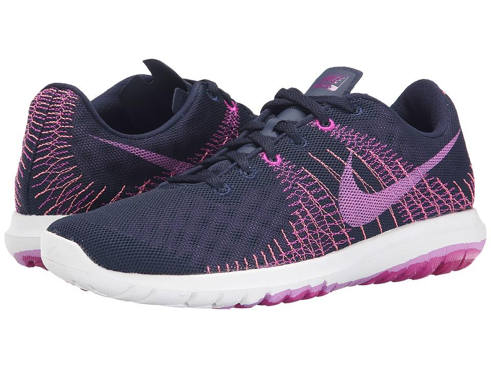 Nike - Flex Fury (Obsidian/Fuchsia Flash/Mulberry/Fuchsia Glos) Women's Running Shoes