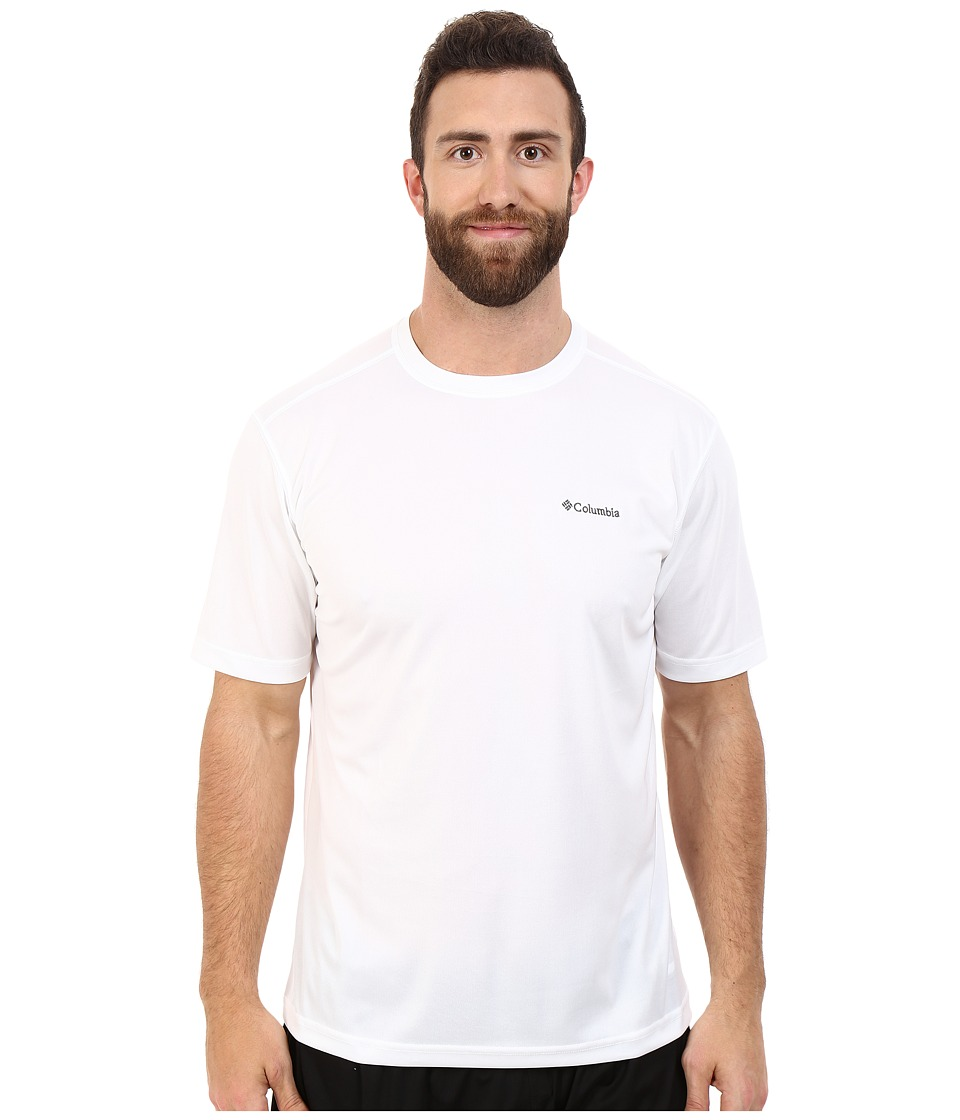 Columbia - Big Tall Meeker Peak Short Sleeve Crew (White) Men's Short Sleeve Pullover