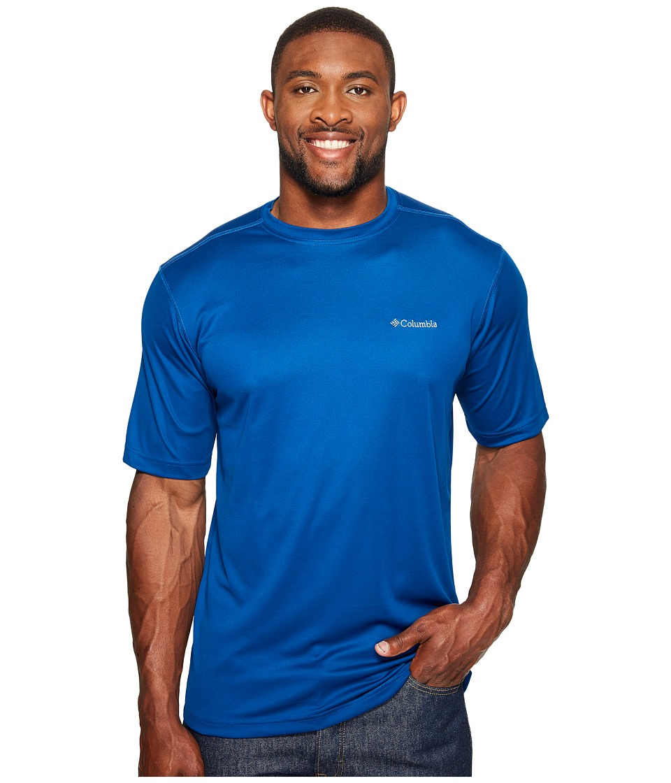 Columbia Big Tall Meeker Peaktm Short Sleeve Crew (Marine Blue) Men