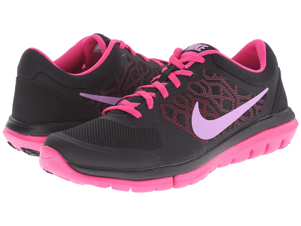 Nike - Flex 2015 RUN (Black/Pink Foil/Pink Glow/Bright Citrus) Women