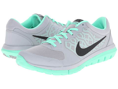Nike - Flex 2015 RUN (Wolf Grey/Green Glow/Cool Grey/Black) Women