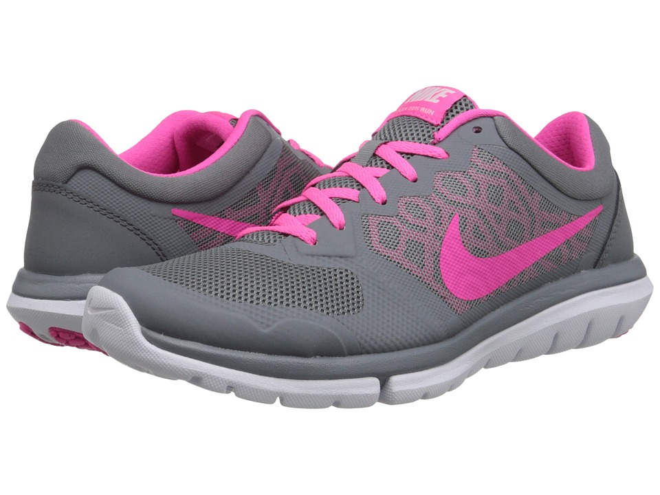 Nike - Flex 2015 RUN (Cool Grey/White/Pink Pow) Women's Running Shoes