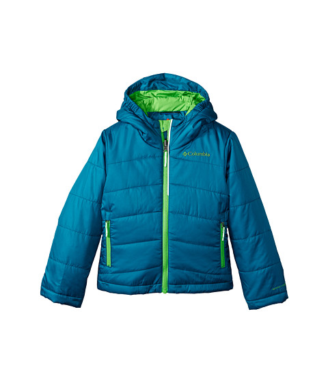 Columbia Kids - Shimmer Me Jacket (Little Kids/Big Kids) (Deep Wave/Cyber Green) Boy's Coat