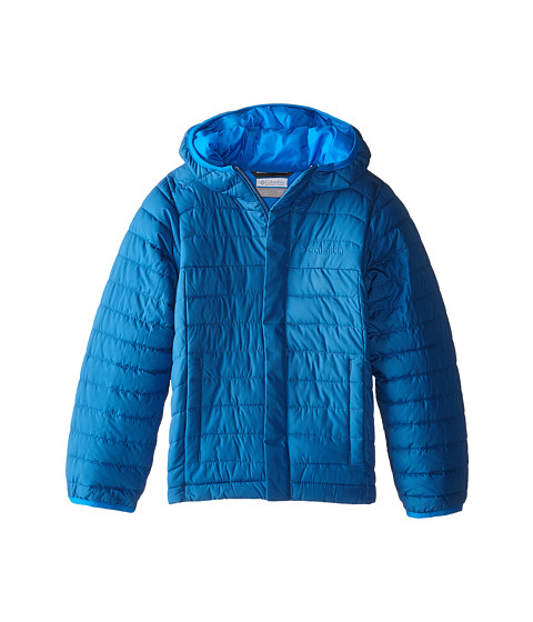 Columbia Kids - Powder Lite Puffer (Little Kids/Big Kids) (Marine Blue/Hyper Blue) Boy's Coat