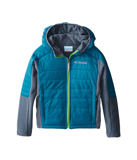 Columbia Kids - Fast Trek Hybrid (Little Kids/Big Kids) (Deep Wave/Graphite) Boy's Coat