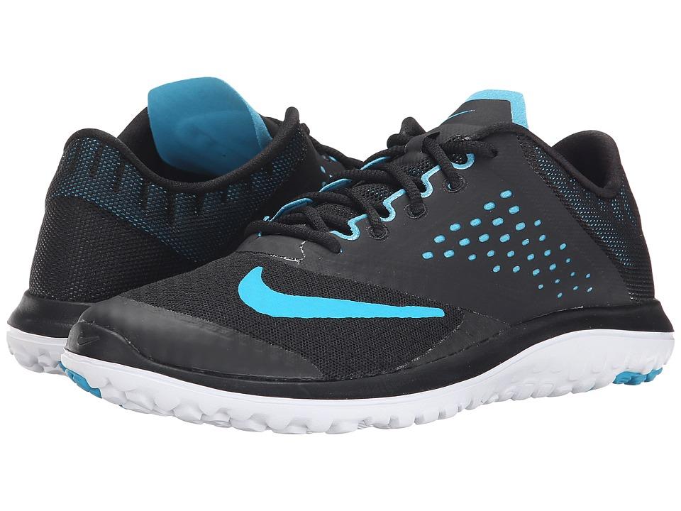 Nike - FS Lite Run 2 (Black/White/Blue Lagoon) Women