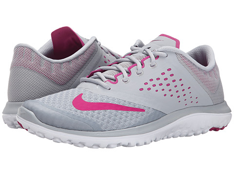Nike - FS Lite Run 2 (Wolf Grey/White/Sport Fuchsia) Women's Running Shoes