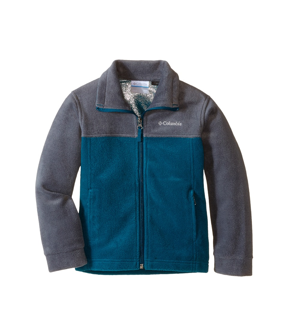 Columbia Kids - Dotswarm Full Zip (Little Kids/Big Kids) (Deep Wave) Boy