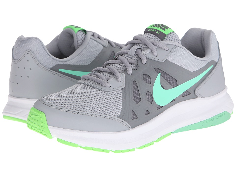 Nike - Dart 11 (Wolf Grey/Cool Grey/Voltage Green/Green Blow) Women's Running Shoes