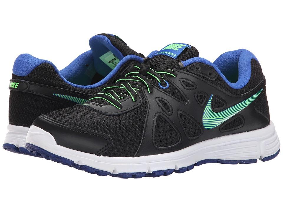 Nike - Revolution 2 (Black/Game Royal/White/Green Strike) Women's Running Shoes