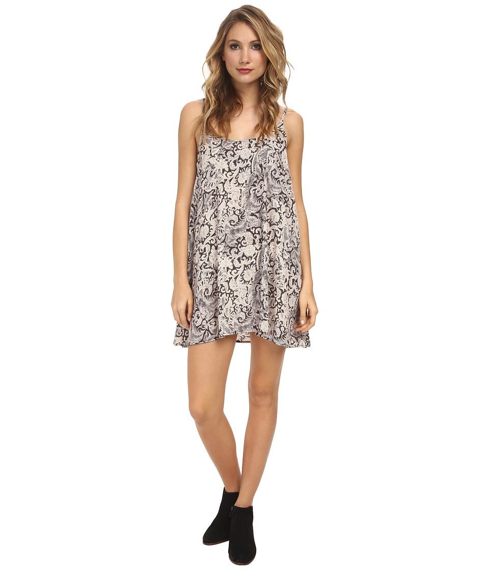 Free People - Polyester Chiffon Printed Emily Slip (Night Combo) Women's Dress
