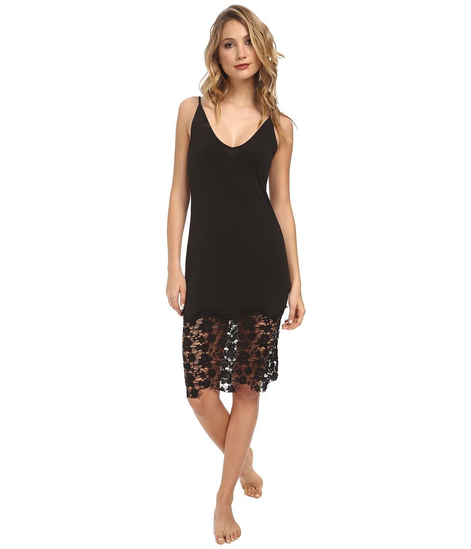 Free People - Jersey Lace True Slinky Bodycon Slip (Black) Women's Pajama