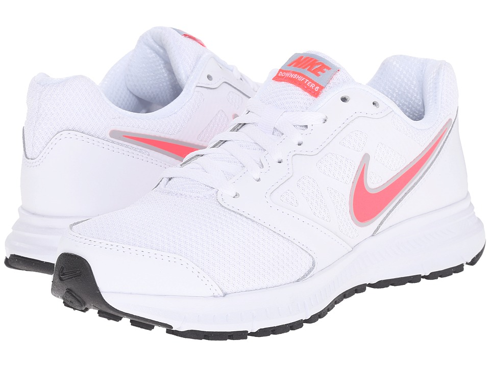 Nike - Downshifter 6 (White/Light Magnet Grey/Hyper Punch) Women's Running Shoes