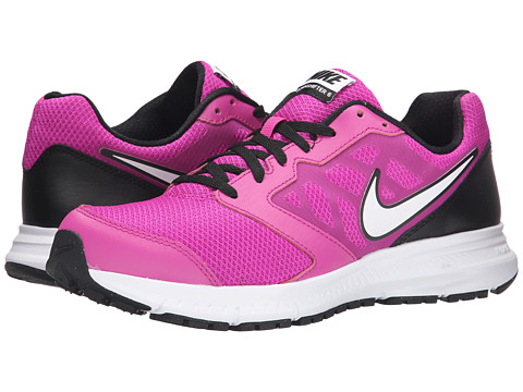 Nike - Downshifter 6 (Fuchsia Flash/Black/White/White) Women