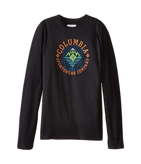 Columbia Kids - Explore Some More Graphic Long Sleeve Shirt (Little Kids/Big Kids) (Black) Boy