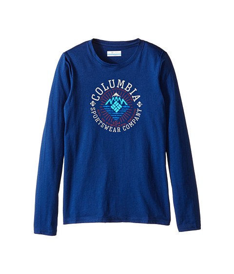 Columbia Kids - Explore Some More Graphic Long Sleeve Shirt (Little Kids/Big Kids) (Carbon) Boy's Long Sleeve Pullover