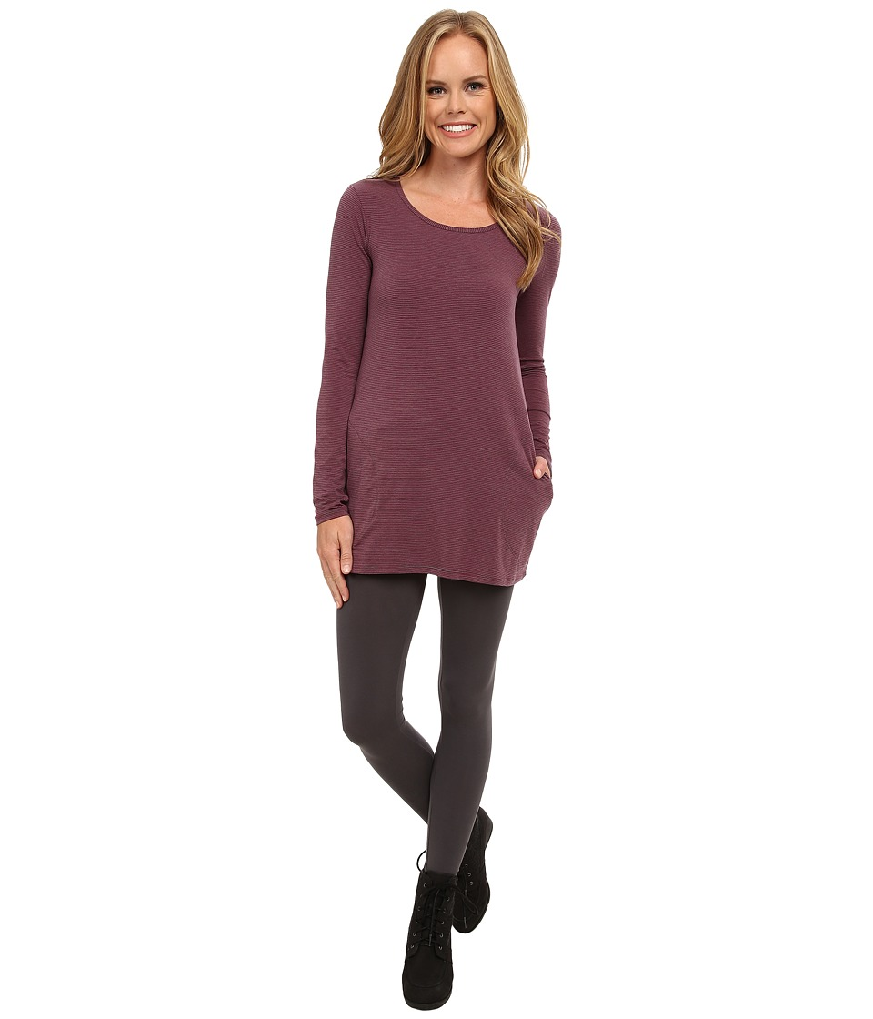 Toad&Co - Swifty Long Sleeve Tunic (Dark Thistle Stripe) Women