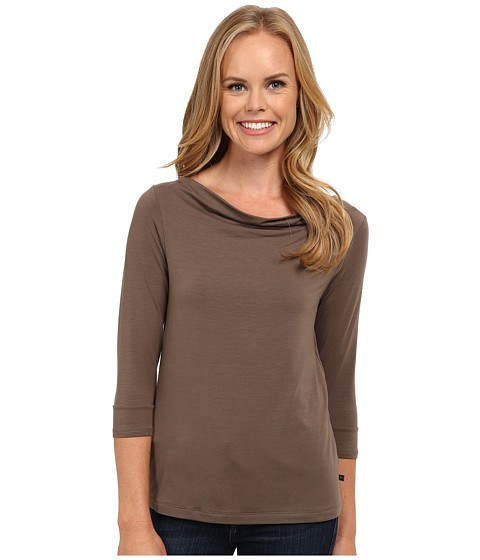 Toad&Co - Wisper 3/4 Double Tee (Falcon Brown) Women's T Shirt