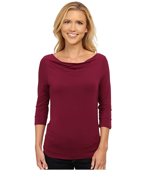 Toad&Co - Wisper 3/4 Double Tee (Dark Thistle) Women