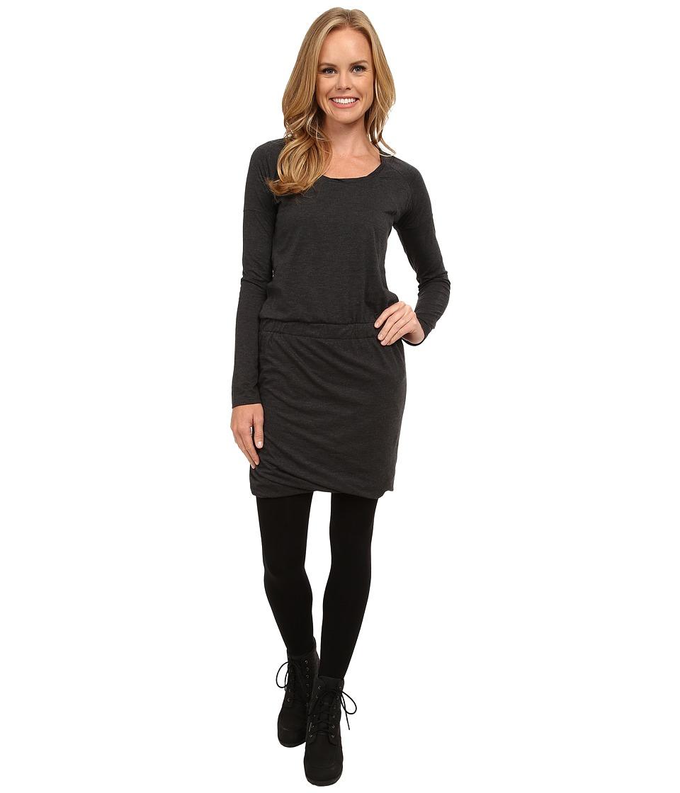 Toad&Co Allisa Long Sleeve Dress (Black Heather) Women