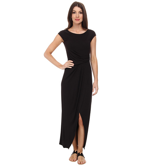 Tommy Bahama - Tambour Cap Sleeve Long Dress (Black) Women