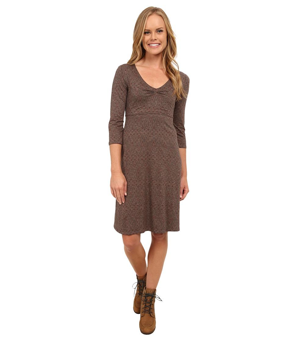 Toad&Co - Rosalinda Jersey Knit Dress (Falcon Brown Nordic Print) Women's Dress