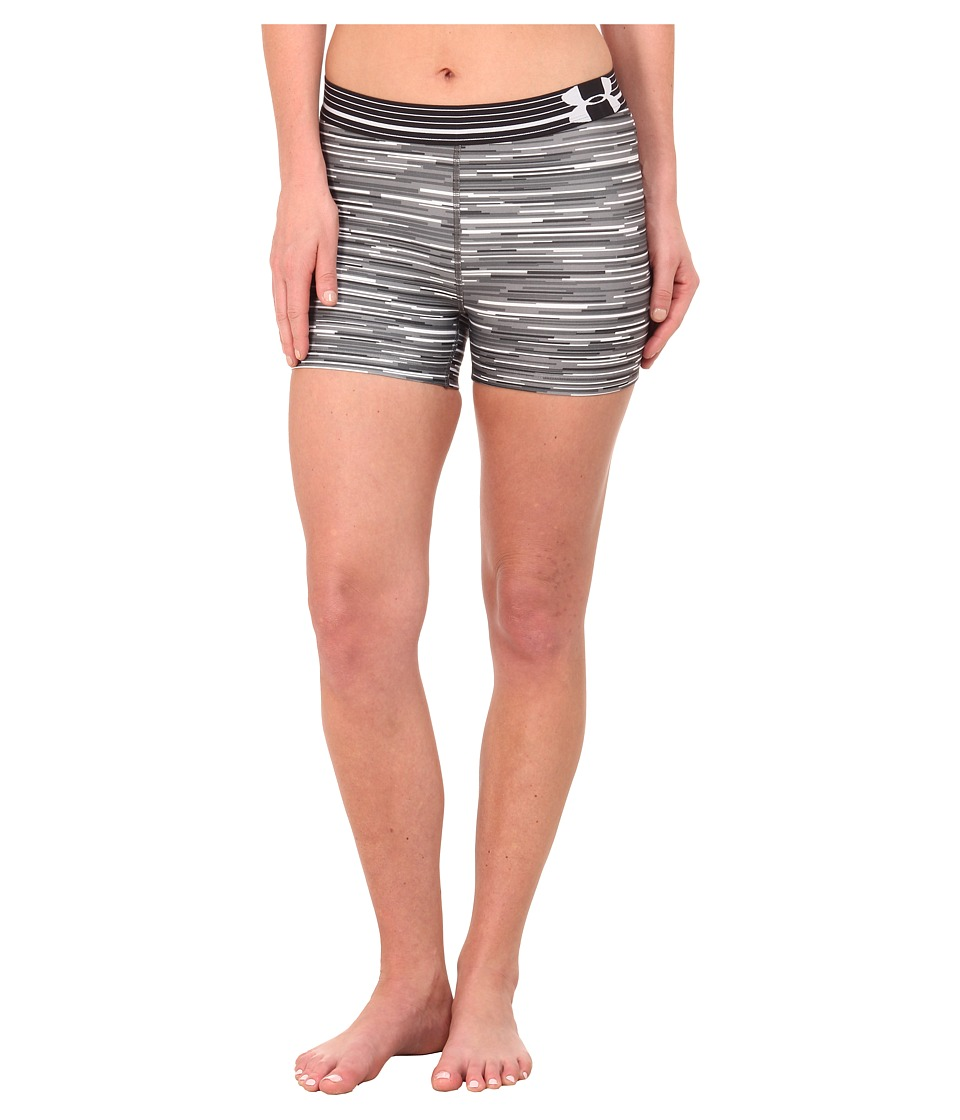 Under Armour - UA HeatGear(r) Armour Compression Printed Shorty (White/Graphite/Metallic Silver) Women's Shorts
