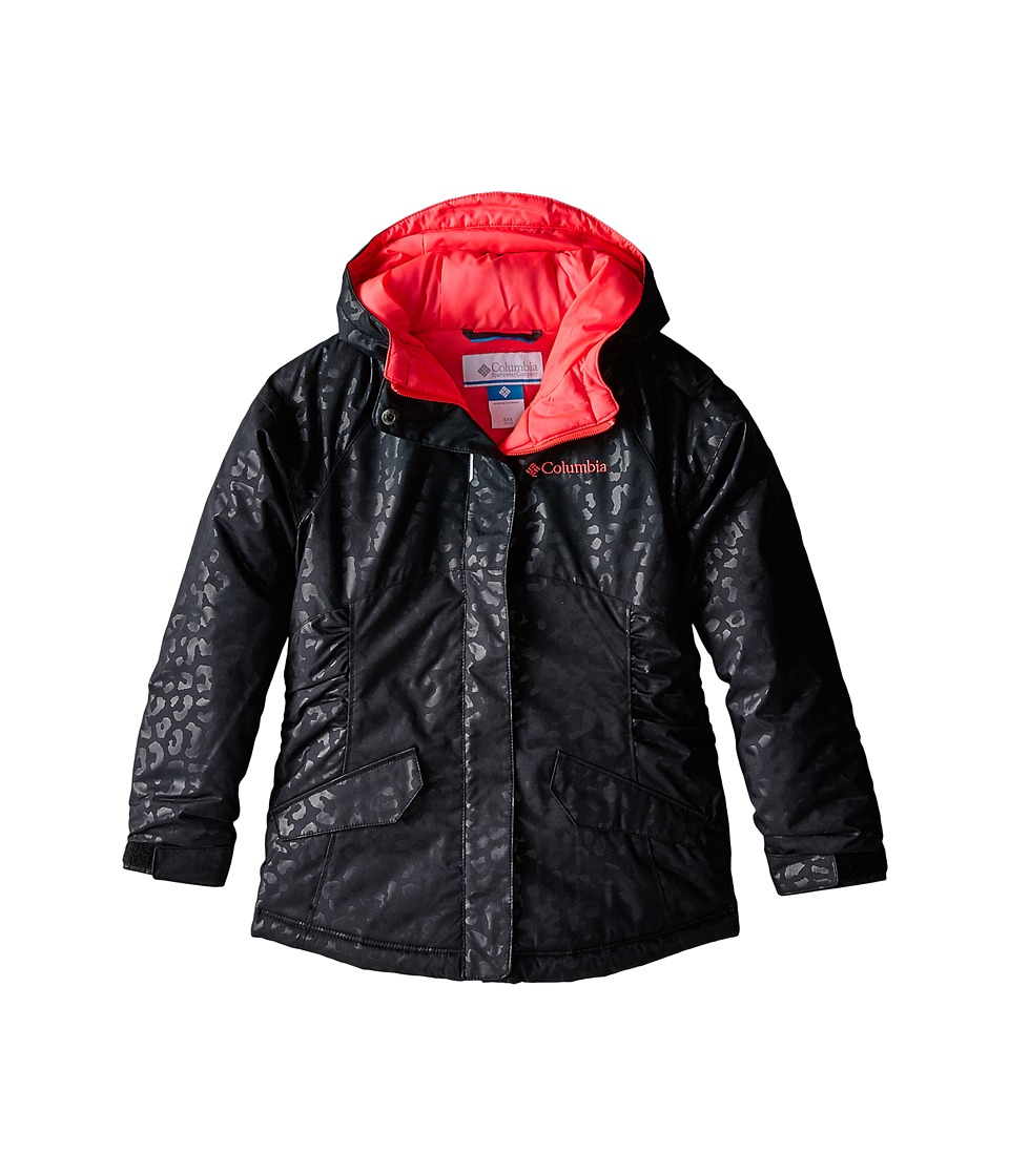 Columbia Kids - Razzmadazzletm Jacket (Little Kids/Big Kids) (Black Animal Emboss/Laser Red Pops) Girl's Coat