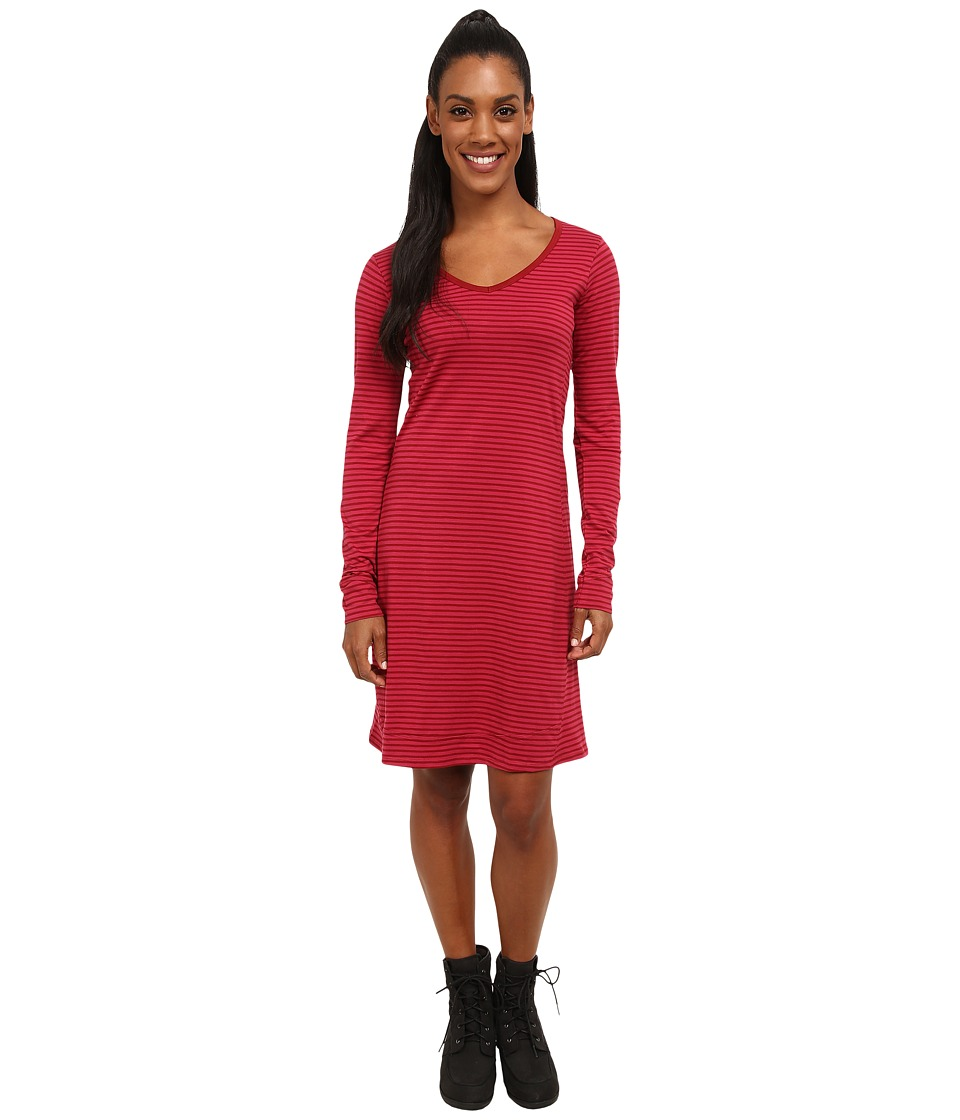 Toad&Co - Marley Long Sleeve Dress (Molten Stripe) Women's Dress