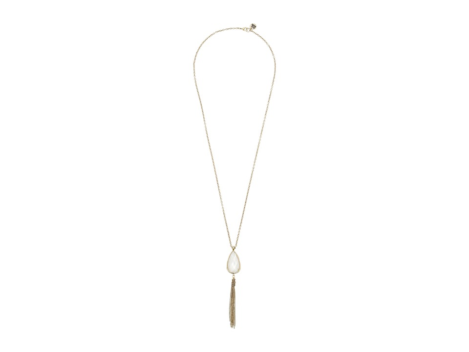 The Sak - Stone Tassel Y-Neck (Mother-of-Pearl) Necklace
