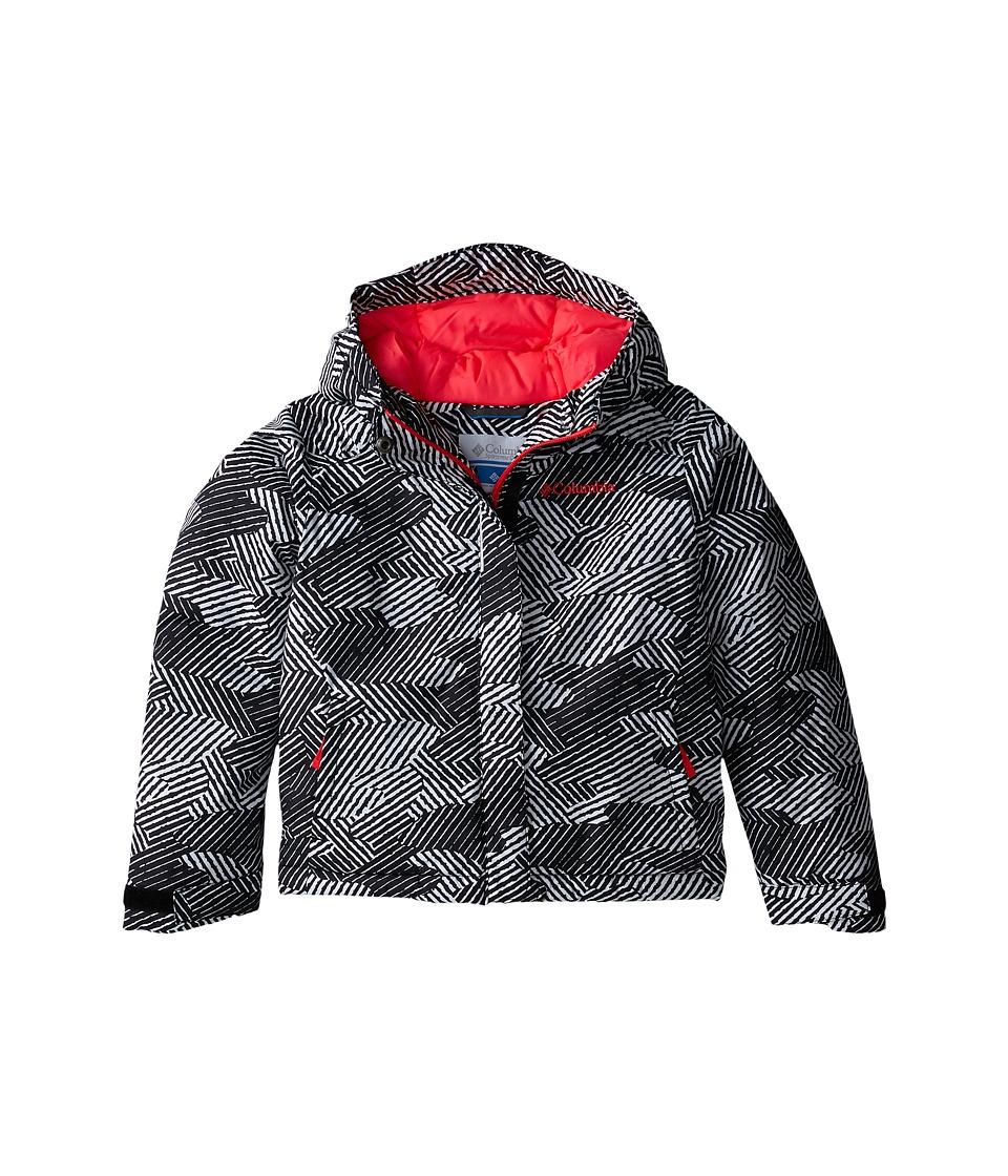 Columbia Kids - Horizon Ride Jacket (Little Kids/Big Kids) (Black Gradient Print/Laser Red) Girl