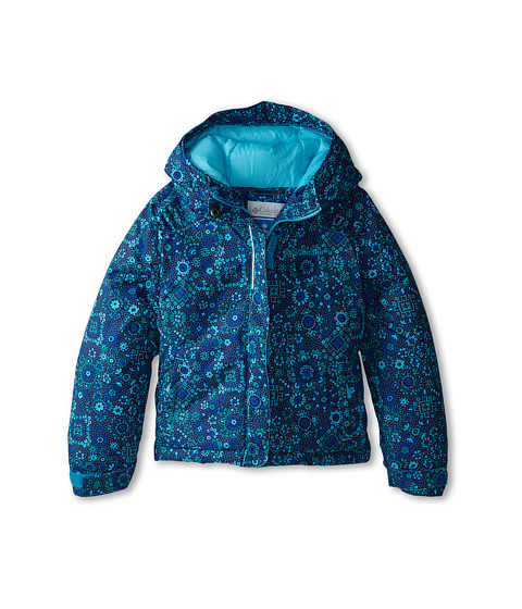Columbia Kids - Horizon Ride Jacket (Little Kids/Big Kids) (Mayan Green Paisley Print/Atoll) Girl's Coat
