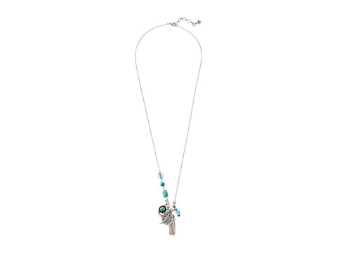 The Sak - Beaded Charm Necklace (Turquoise) Necklace