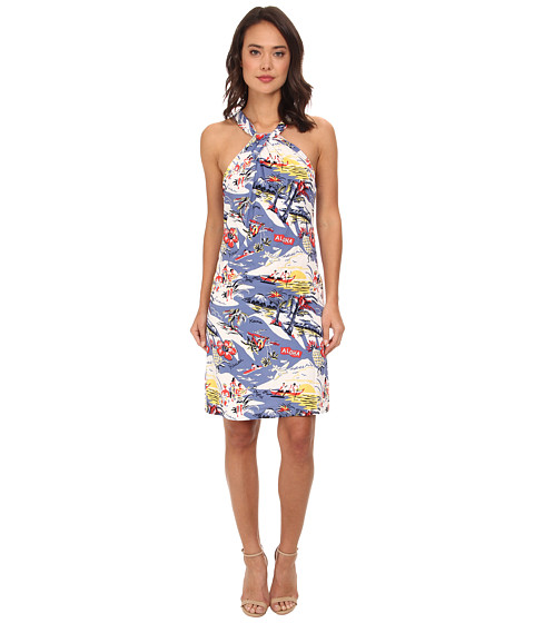 Tommy Bahama - Island Paradise Halter Dress (Billowy Blue) Women