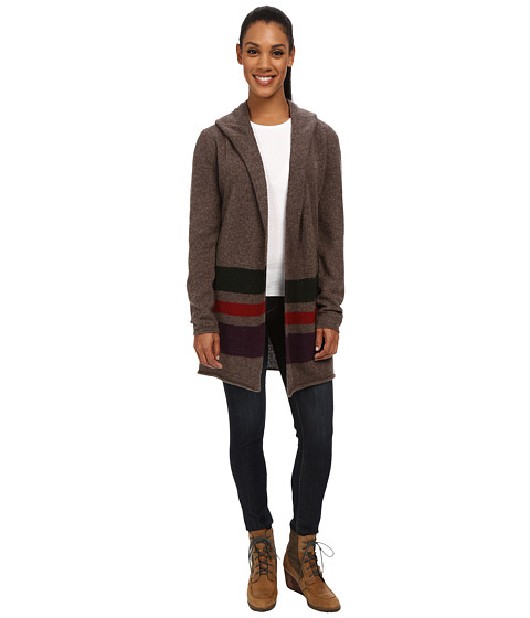 Toad&Co - Merino Wool Heartfelt Hoodie (Falcon Brown Heather/Rosin/Molton/Tyrian Purple) Women's Sweater