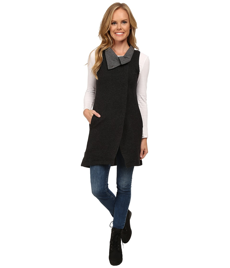 Toad&Co - Wildling Long Vest (Black Heather) Women's Vest