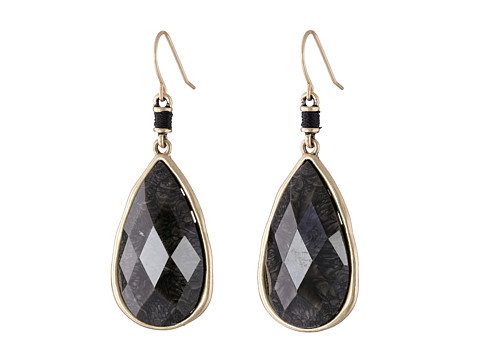 The Sak - Elongated Faceted Drop Earrings (Charcoal) Earring