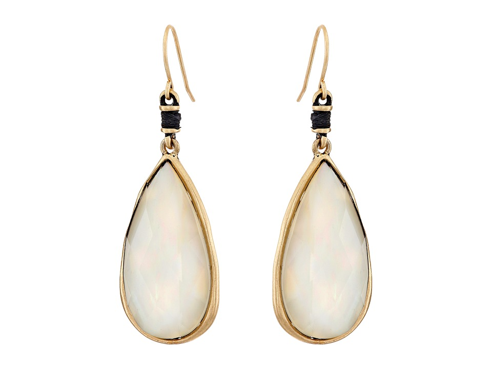 The Sak - Elongated Faceted Drop Earrings (Mother-of-Pearl) Earring