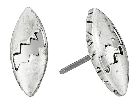 The Sak - Etched Oval Stud Earrings (Silver) Earring